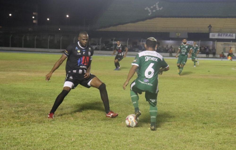 Santos-AP foi melhor na primeira partida e ampliou vantagem no confronto — Foto: Kelison Neves/Rede Amazõnica